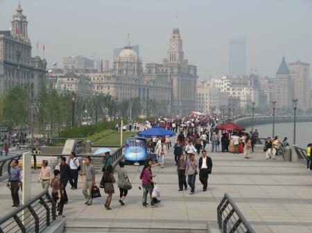 The bund in shanghai china