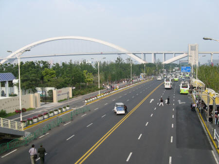 Lipu Bridge Connecting Pudong to Luwan