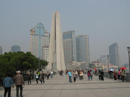 Monument for People's Heroes in Shanghai China