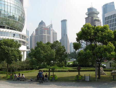 Pudong Park in Shanghai China